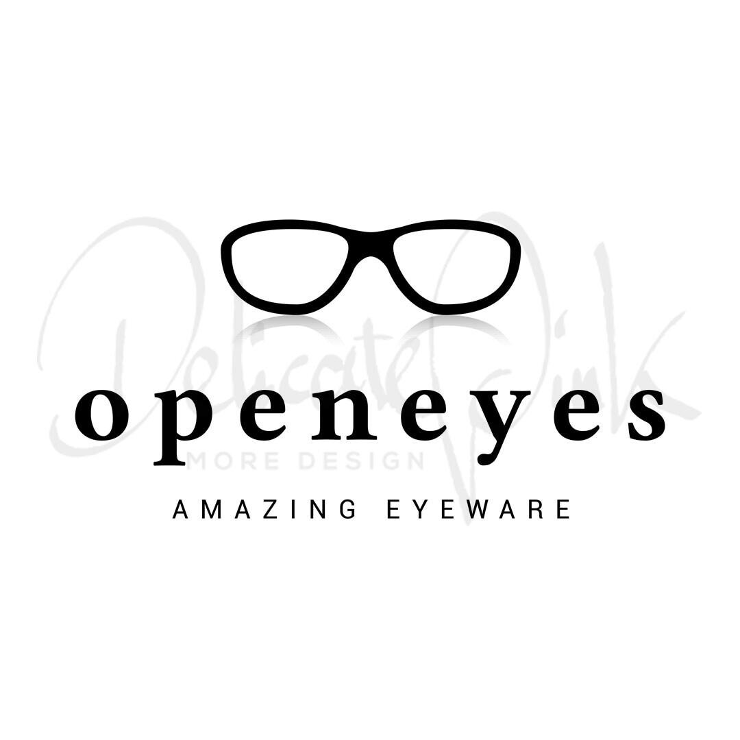 Logo für Augenoptiker, Optiker, Augenoptik, Brille, Brillen, Brillengeschäft, Auge, Optometrie, Sehen, Sonnenbrille, openeyes, Logo-Design, Logo-Template
