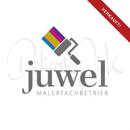 Logo für Maler, Malerbetrieb, Malerwerkstatt, Malerfachbetrieb, Lackierer, Lackiererbetrieb, Farbe, Malerei, Malen, Pinsel, Tapeten, Logo-Design, Logo-Template