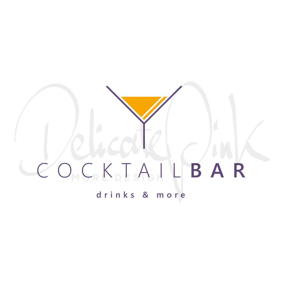 Logo für Bar, Snacks, Snackbar, Getränke, Cocktailbar, Cocktail, Cocktails, Trinken, Pub, Club, Drink, Drinks, Lounge, Gastronomie, Barkeeper, Aperitif, Logo-Design, Logo-Template